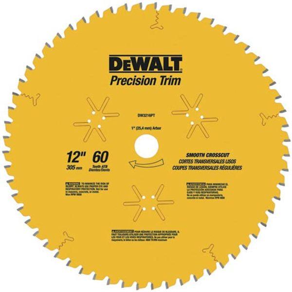 DW3232PT Fine Cut Coated Circular Saw Crosscut Saw Blade 12