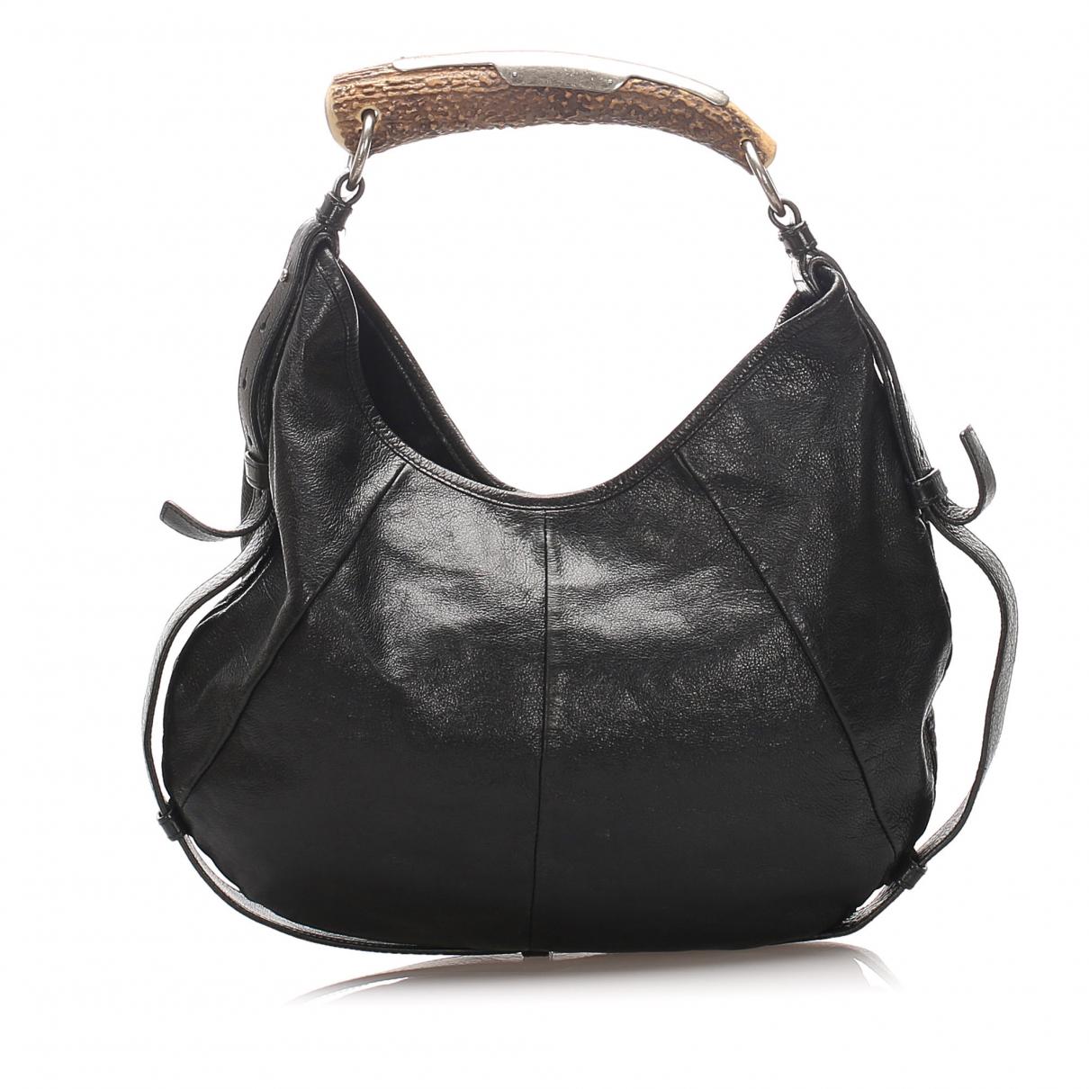 Yves Saint Laurent Mombasa Black Leather handbag for Women \N