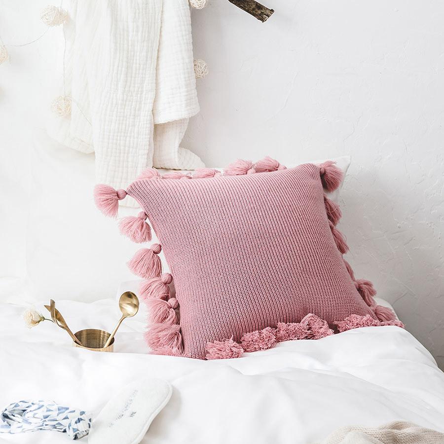 Nordic Simplicity Style Solid Color Acrylic Lantern Ball Pillowcase