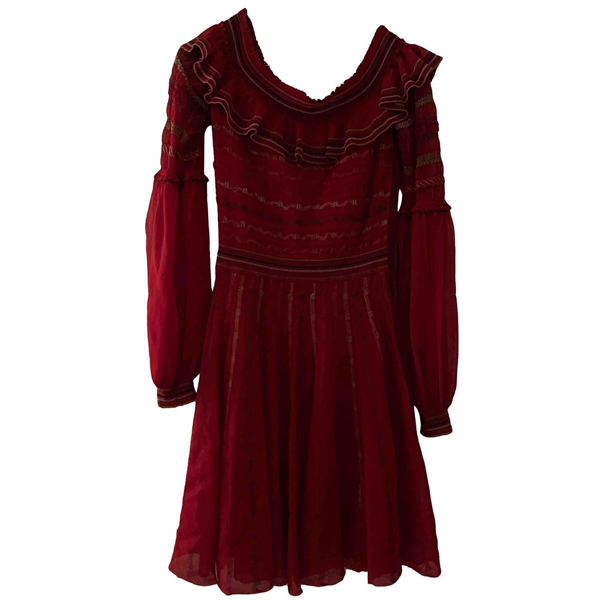 Alexander Mcqueen \N Kleid in  Rot Viskose