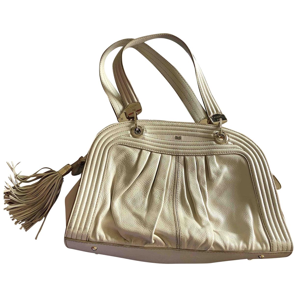 Lancel \N Handtasche in  Beige Leder
