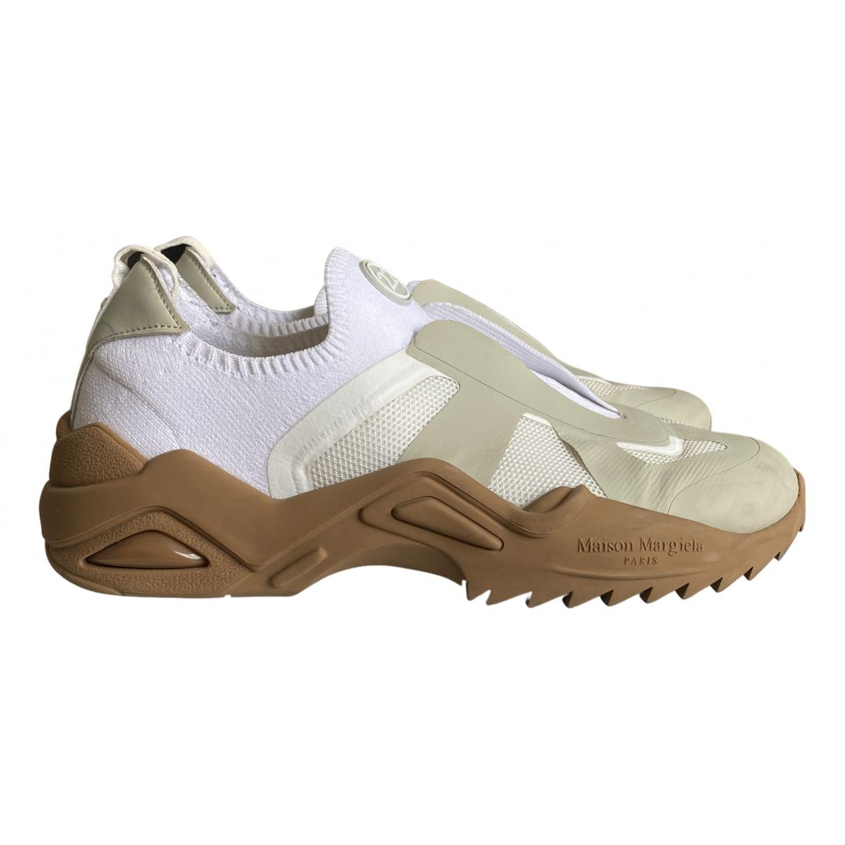 Maison Martin Margiela \N Sneakers in  Beige Polyester