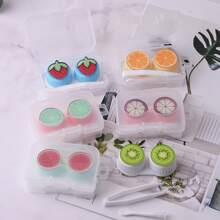 1pc Fruit Pattern Random Contact Lens Case
