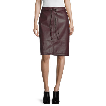 Liz Claiborne Womens Mid Rise A-Line Skirt, 10 , Red