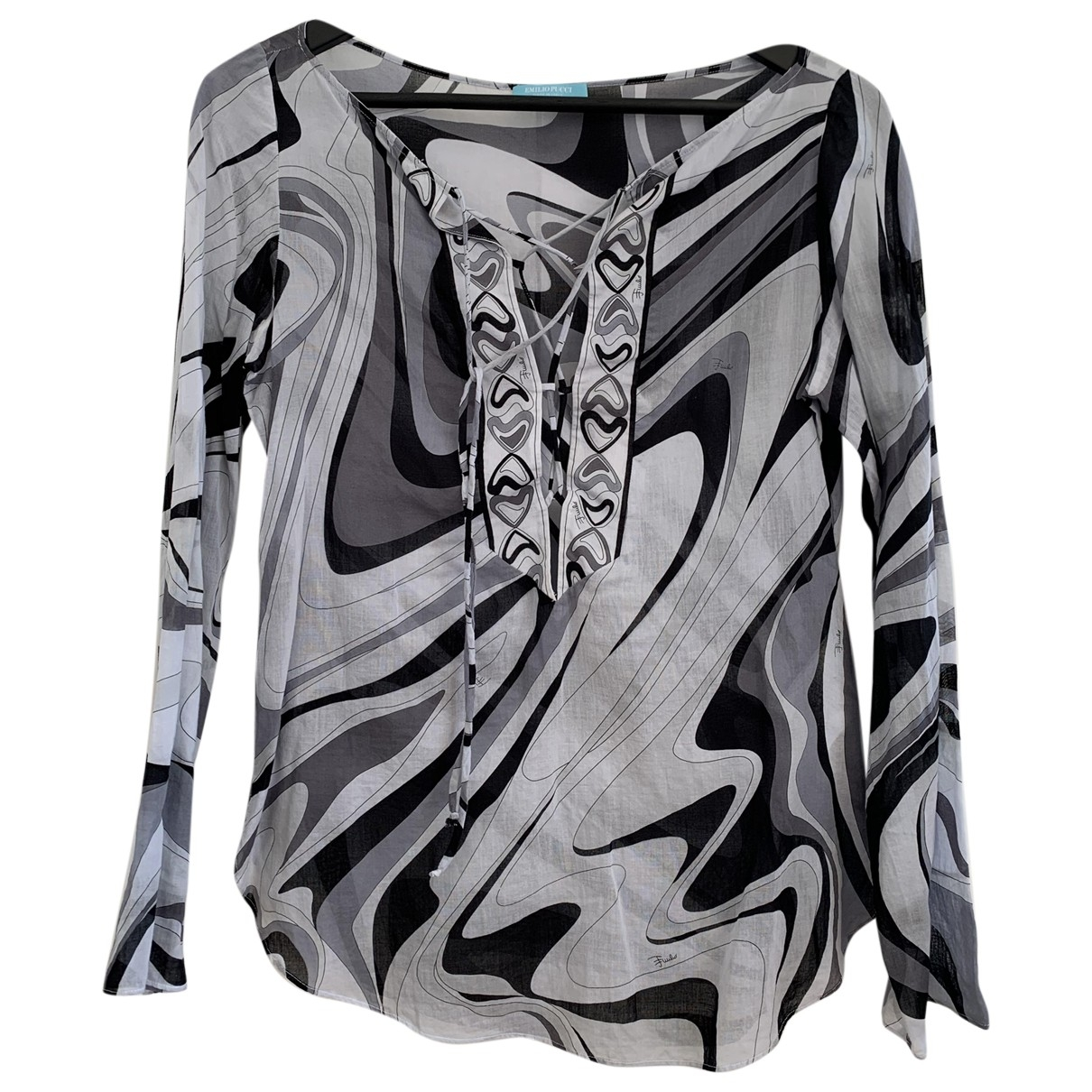 Emilio Pucci \N Grey Cotton  top for Women 38 IT