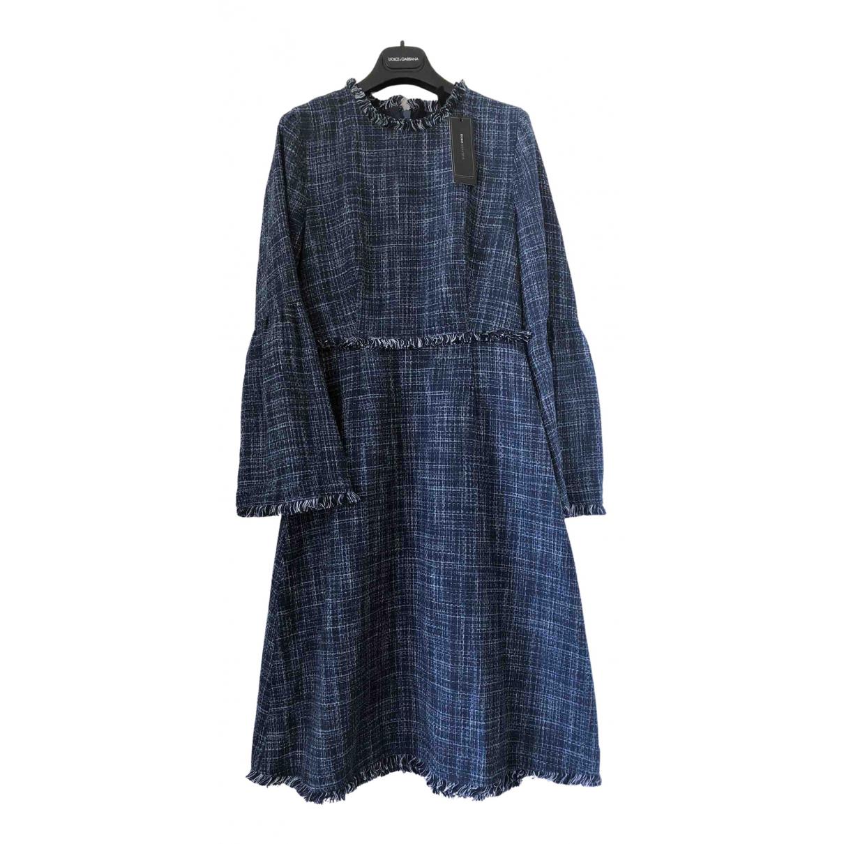 Bcbg Max Azria - Robe   pour femme en coton - marine
