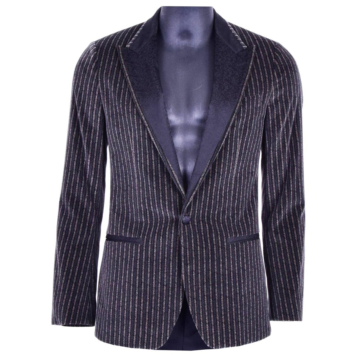 Dolce & Gabbana - Vestes.Blousons   pour homme en velours - gris