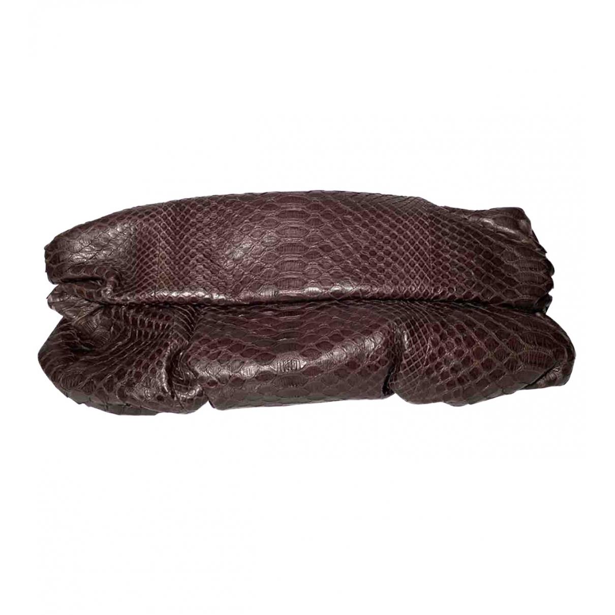 Gina \N Brown Leather Clutch bag for Women \N