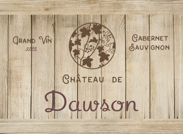 Just for Fun Cutting Board, Gift -Wine Crate