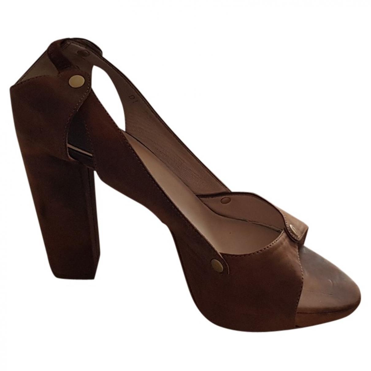 Dior \N Sandalen in  Braun Leder