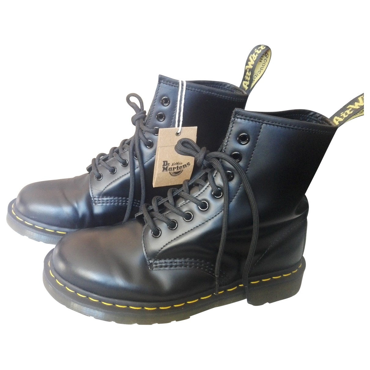 Dr. Martens 1460 Pascal (8 eye) Black Leather Ankle boots for Women 40 EU