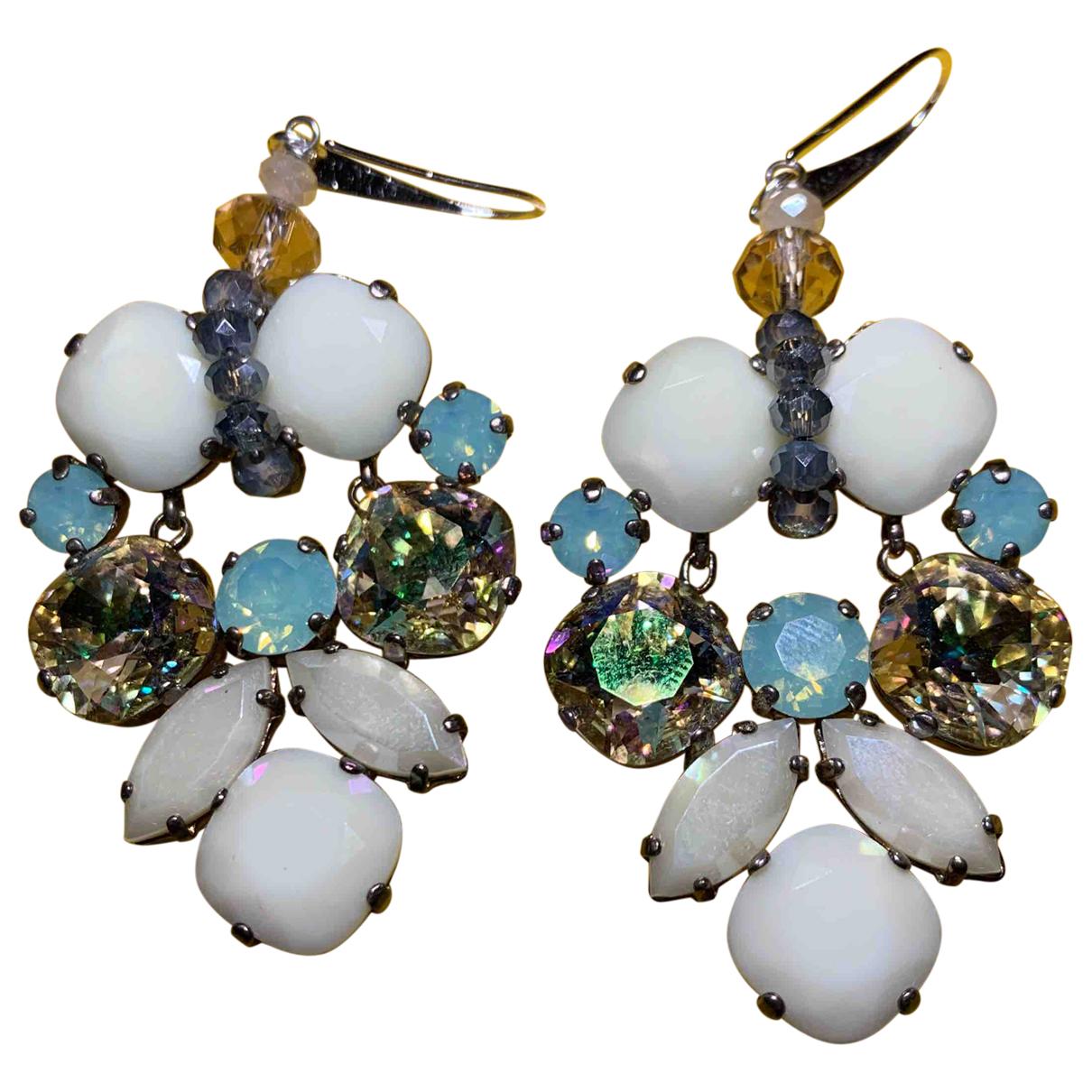 Reminiscence N Navy Metal Earrings for Women N