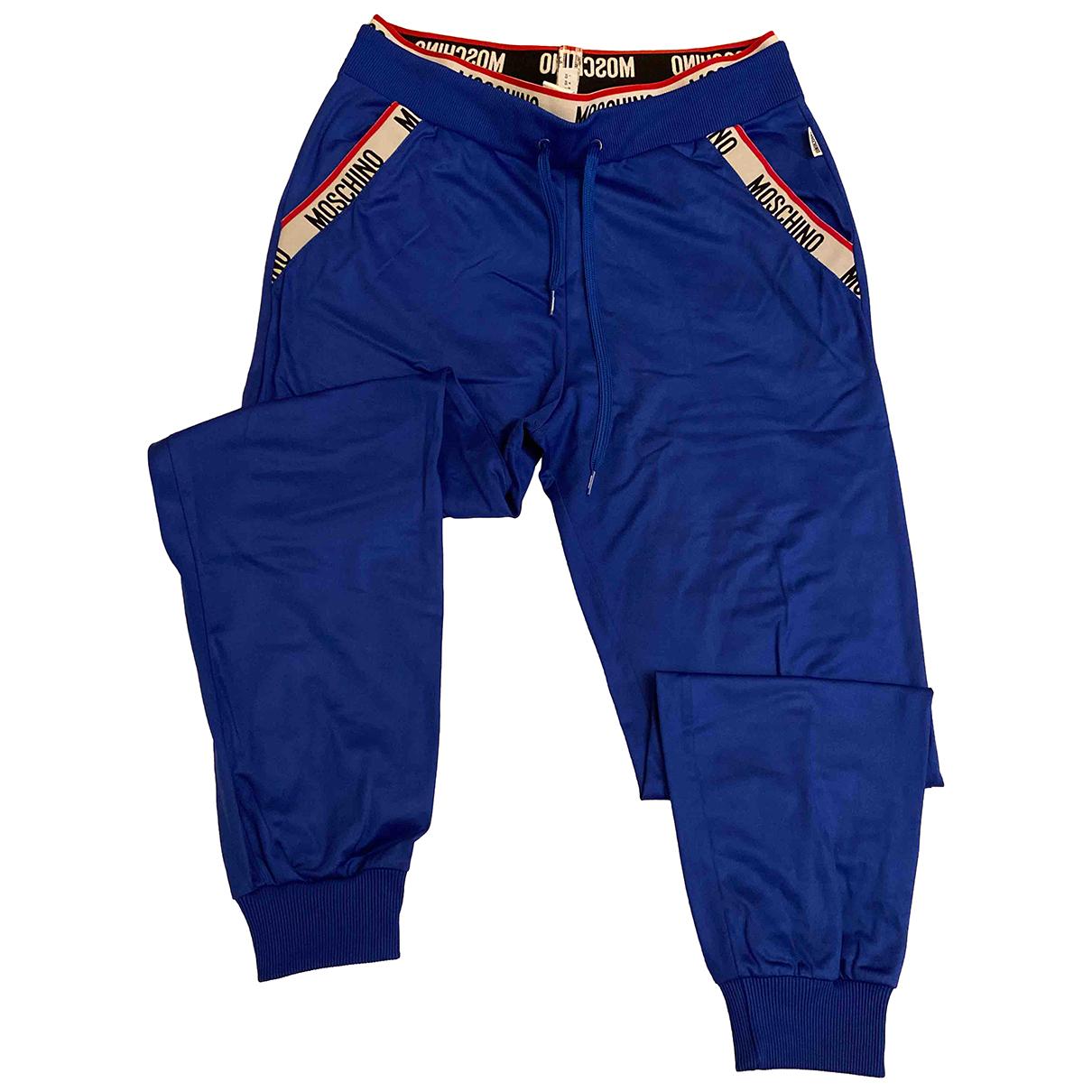 Pantalon en Poliester Azul Moschino