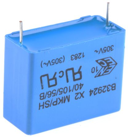 EPCOS 2.2μF Polypropylene Capacitor PP 305V ac ±10% Tolerance Through Hole B32924C Series (10)