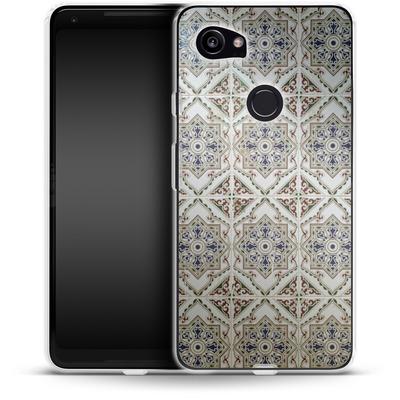 Google Pixel 2 XL Silikon Handyhuelle - White Tiles von Omid Scheybani