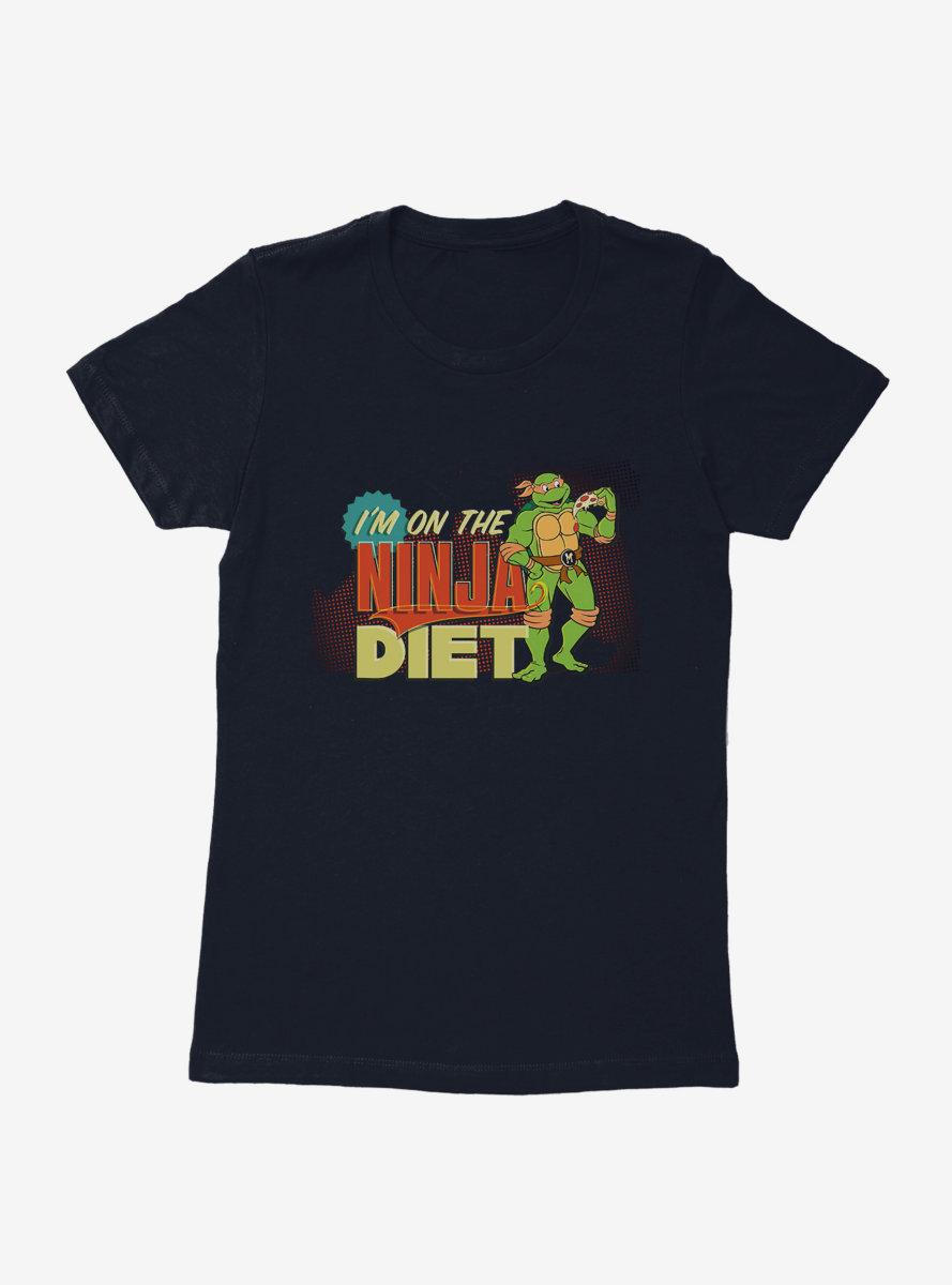 Teenage Mutant Ninja Turtles Michelangelo On The Ninja Diet Womens T-Shirt