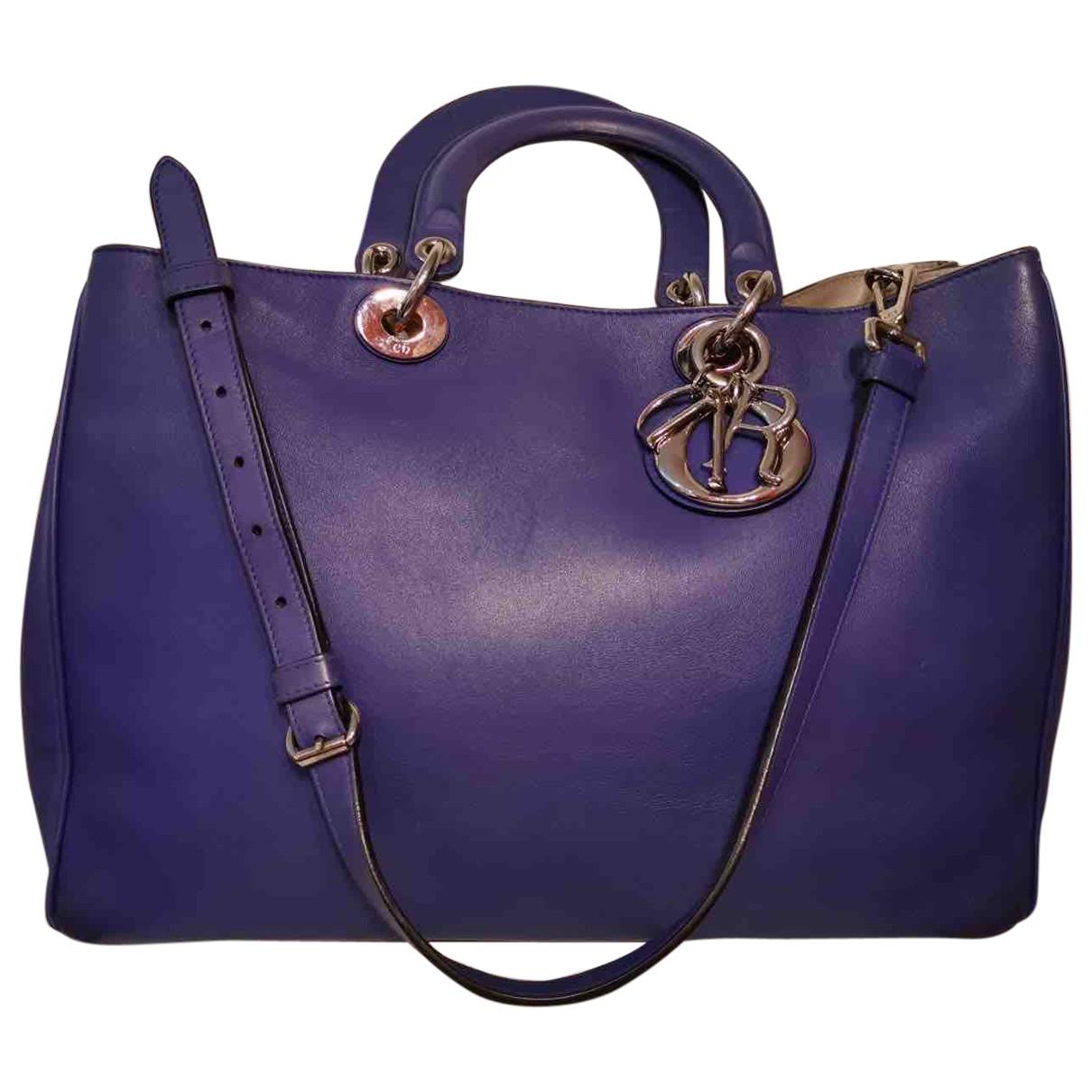 Dior Diorissimo Handtasche in  Lila Leder