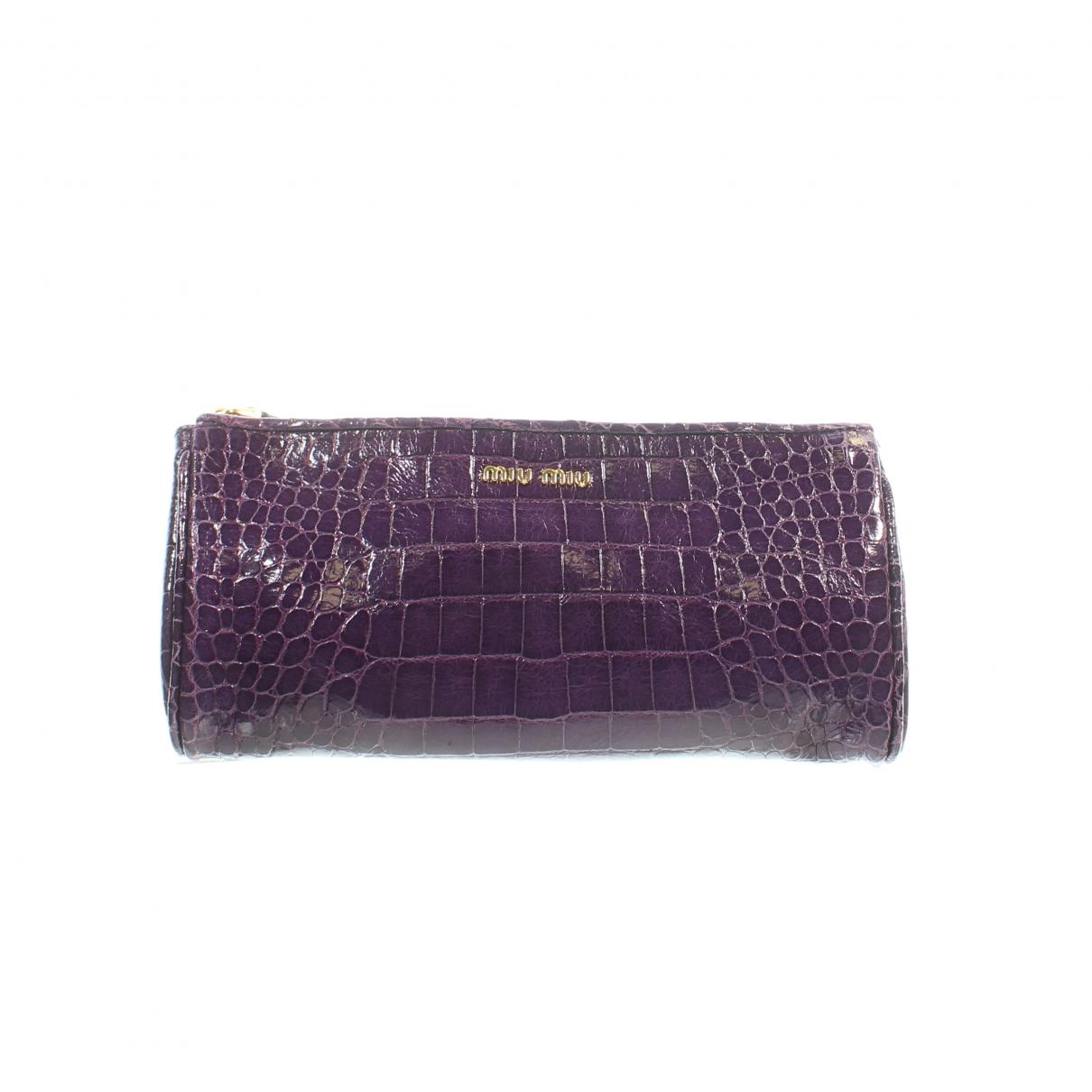 Miu Miu \N Purple Leather Clutch bag for Women \N
