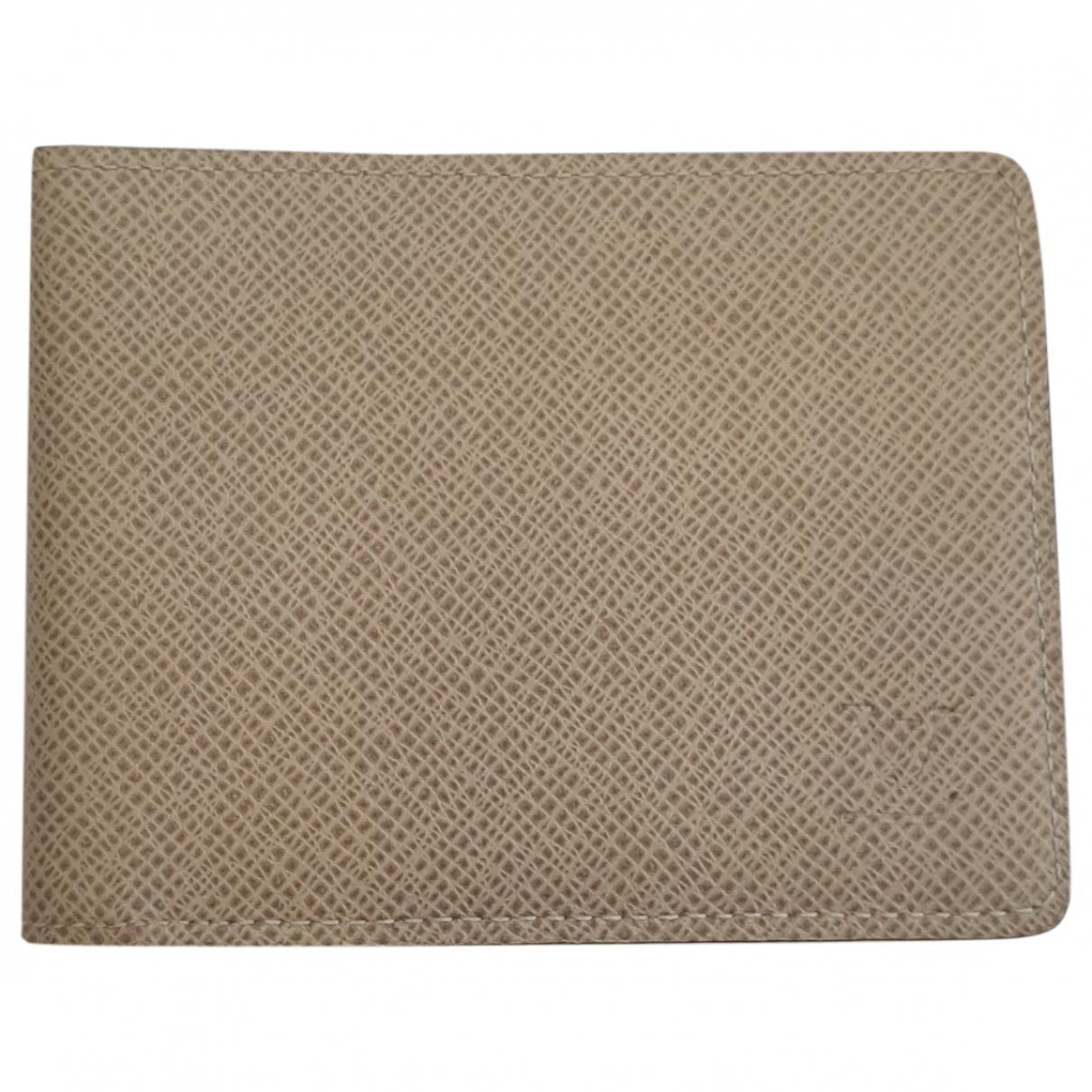 Louis Vuitton - Petite maroquinerie Multiple pour homme en cuir - gris