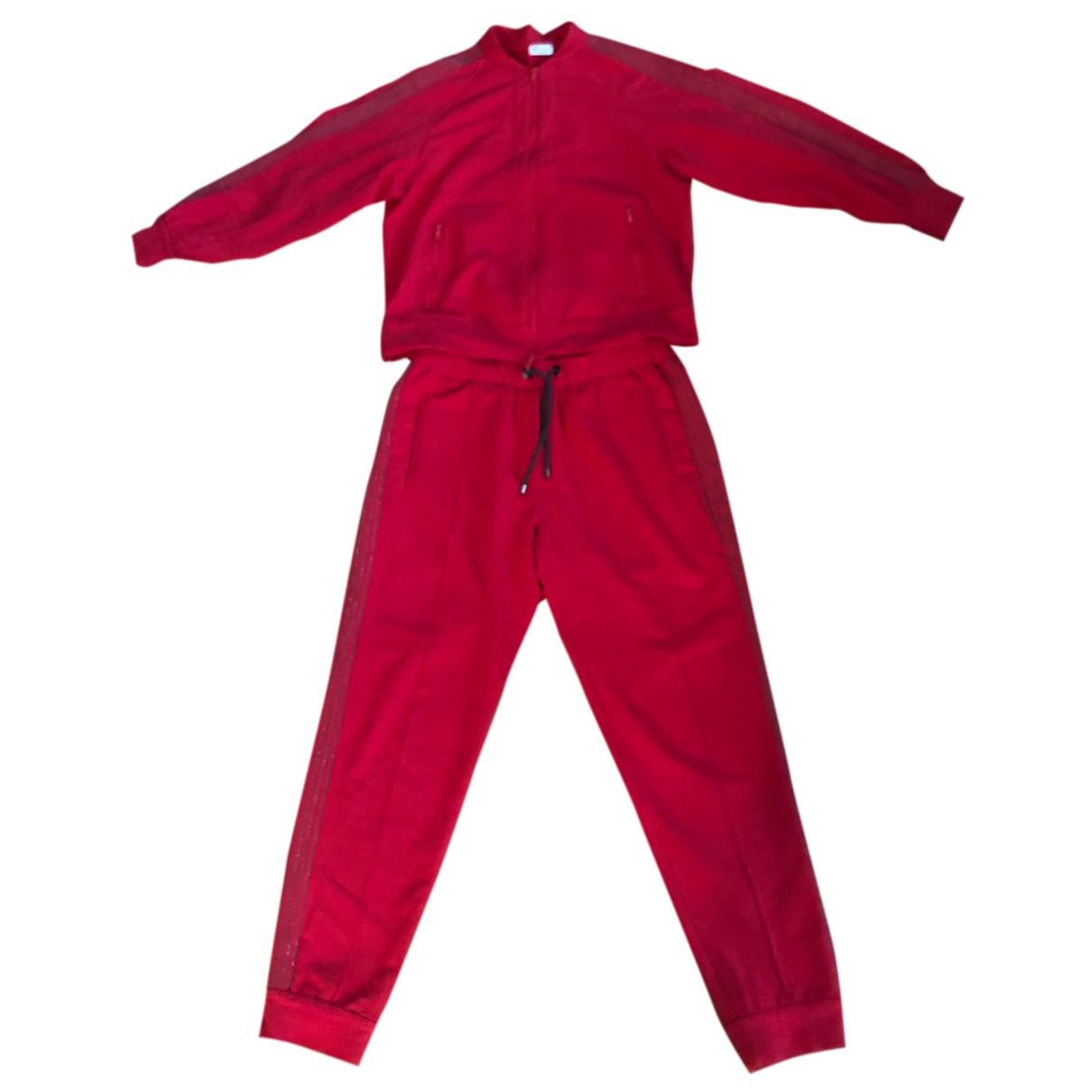 Brunello Cucinelli - Combinaison   pour femme en coton - rouge