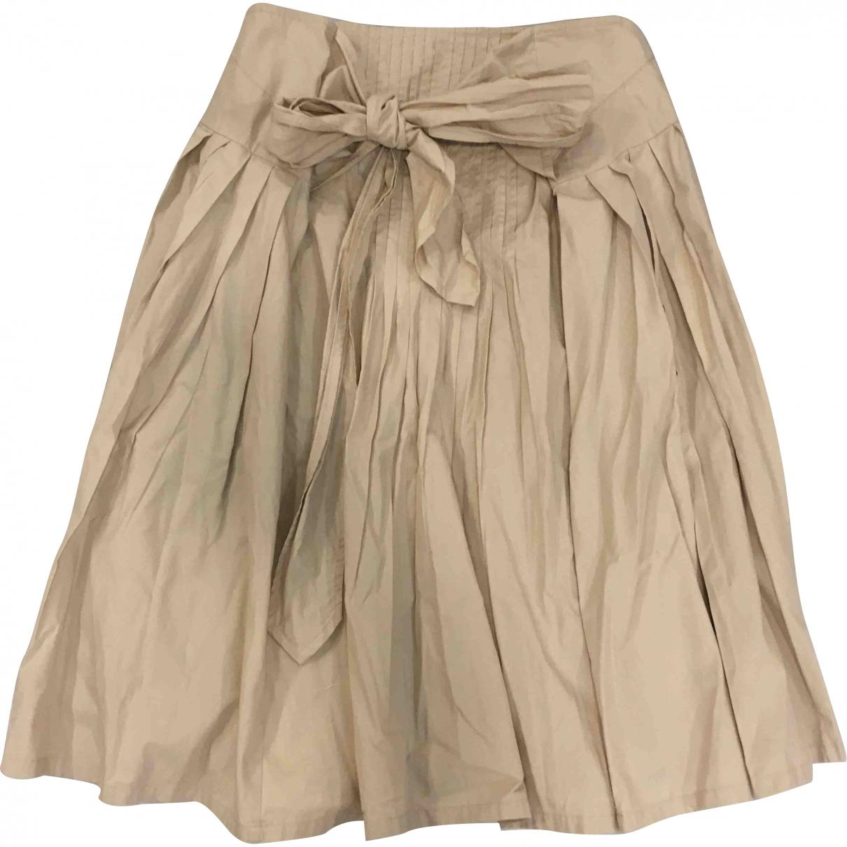 Dries Van Noten \N Beige Cotton skirt for Women 36 FR
