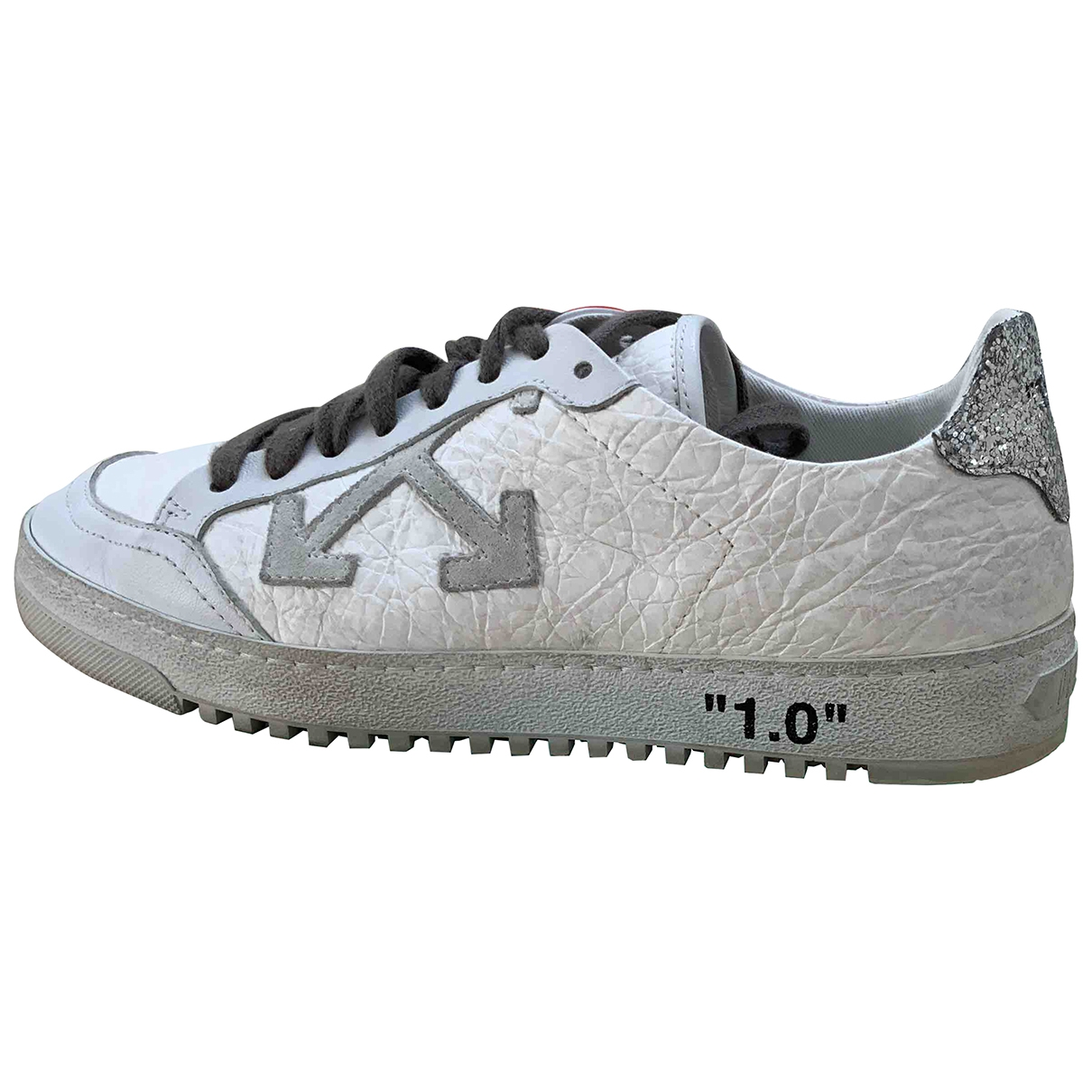 Off-white Low 2.0 Sneakers in  Weiss Leder