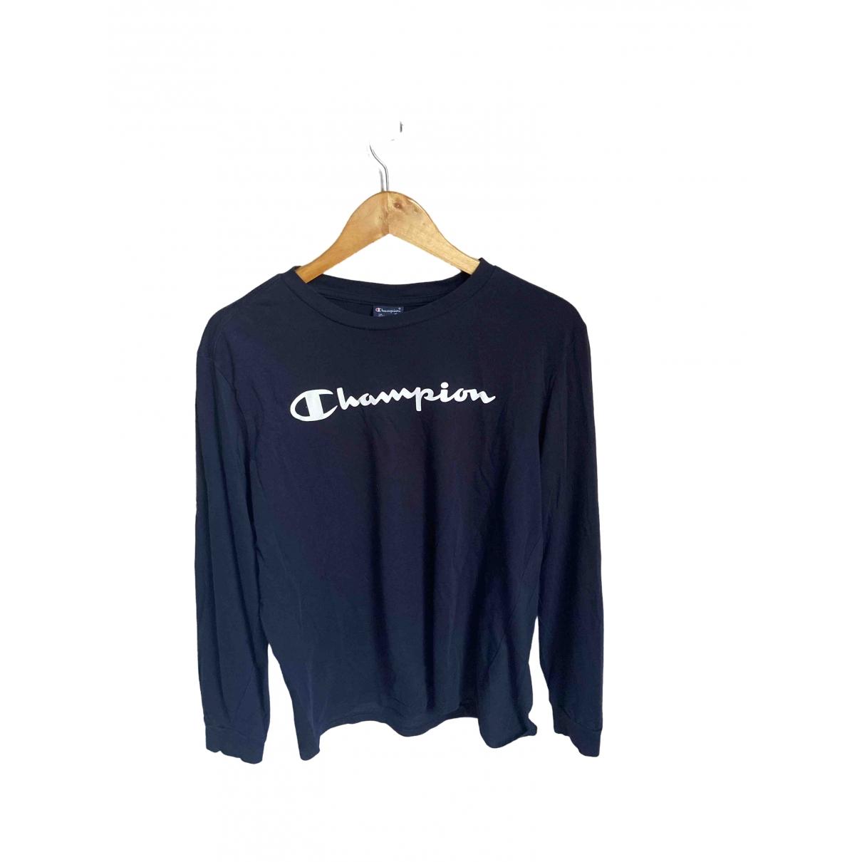 Champion \N Black Cotton T-shirts for Men M International