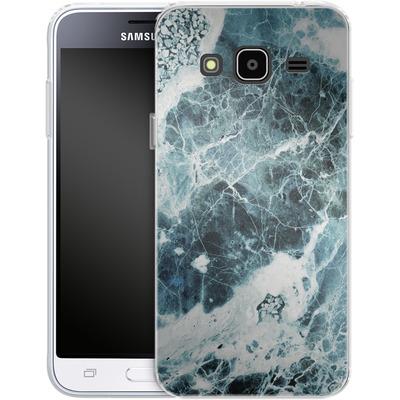 Samsung Galaxy J3 (2016) Silikon Handyhuelle - Blue Sea Marble von Emanuela Carratoni