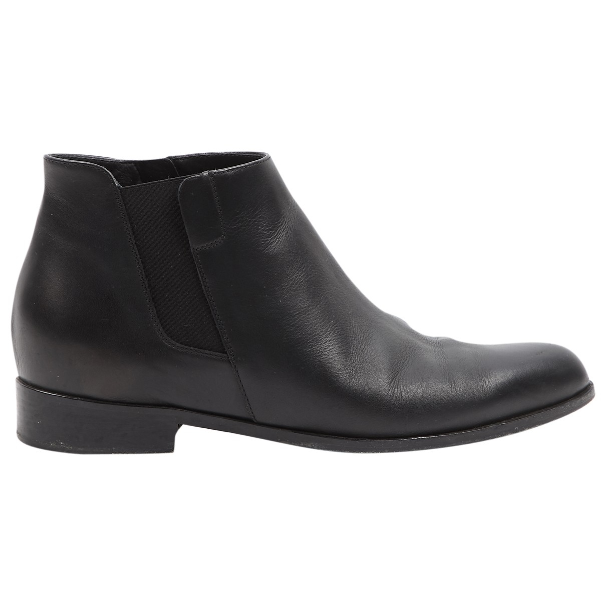 Giuseppe Zanotti \N Black Leather Ankle boots for Women 36 EU