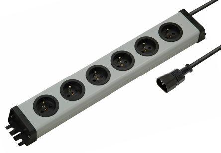 Bodo Ehmann 1.5m 6 Socket Type E - French Extension Lead, 250 V, Black