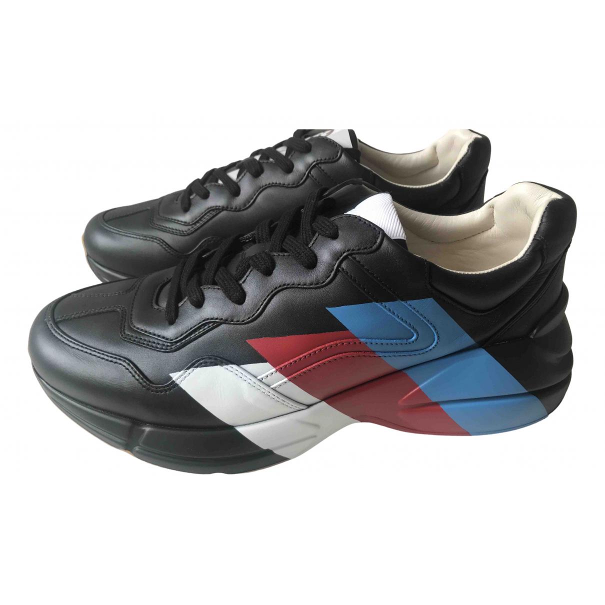 Gucci - Baskets Rhyton pour homme en cuir - noir