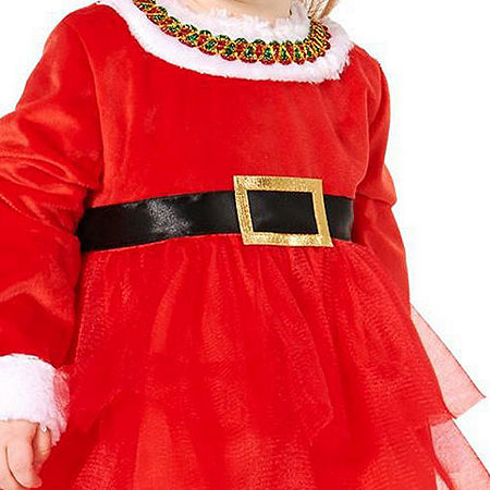 Buyseasons Christmas Diva Infant Girls Costume, 18-24 Months , Red