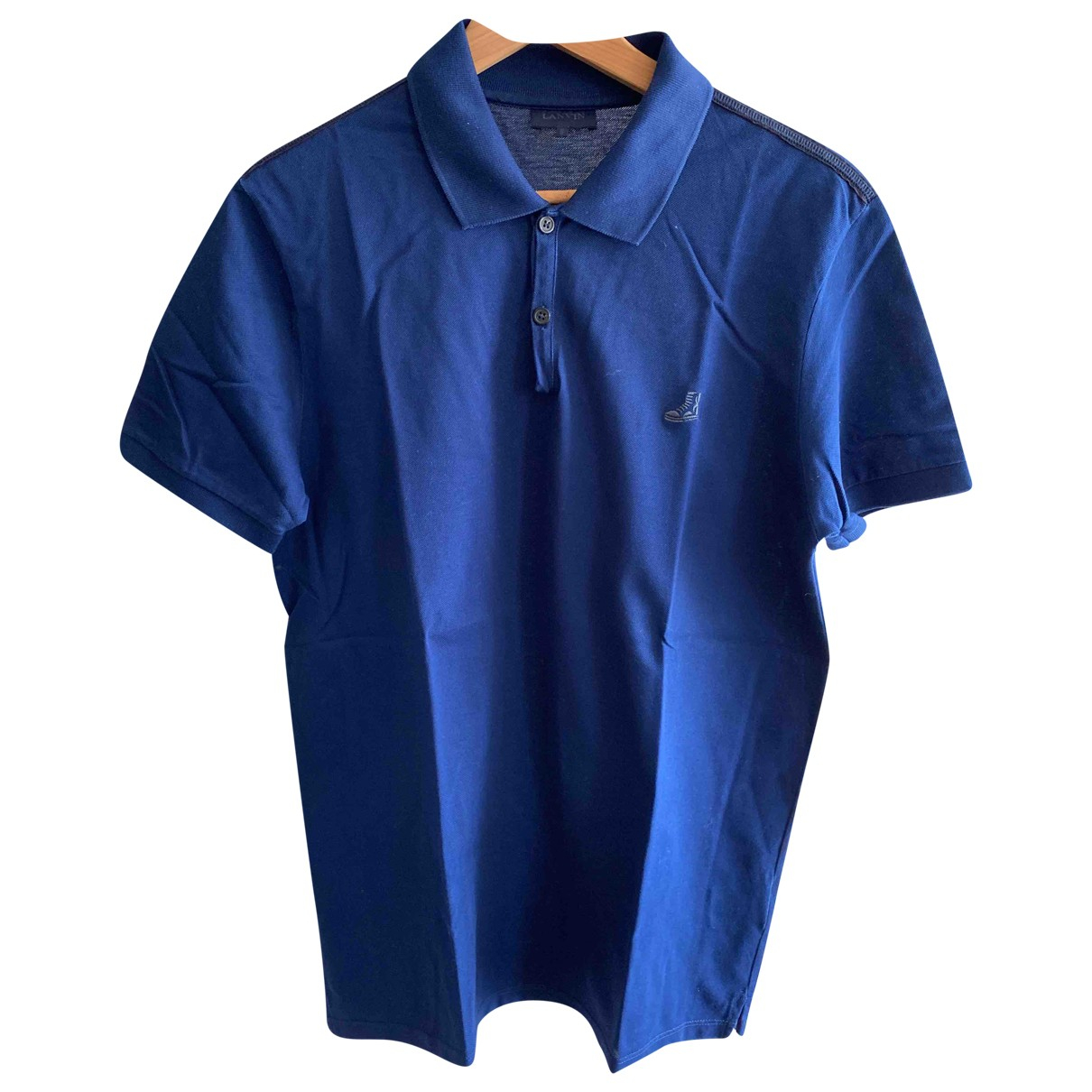 Lanvin \N Navy Cotton Polo shirts for Men M International