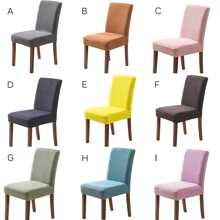 1 pieza funda de silla elastica unicolor
