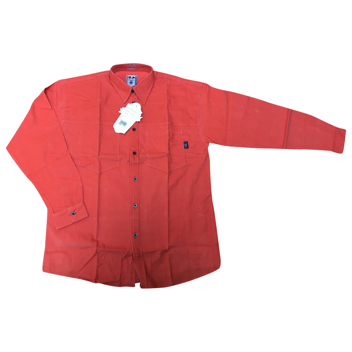 - Chemises Oversize pour homme en velours - orange