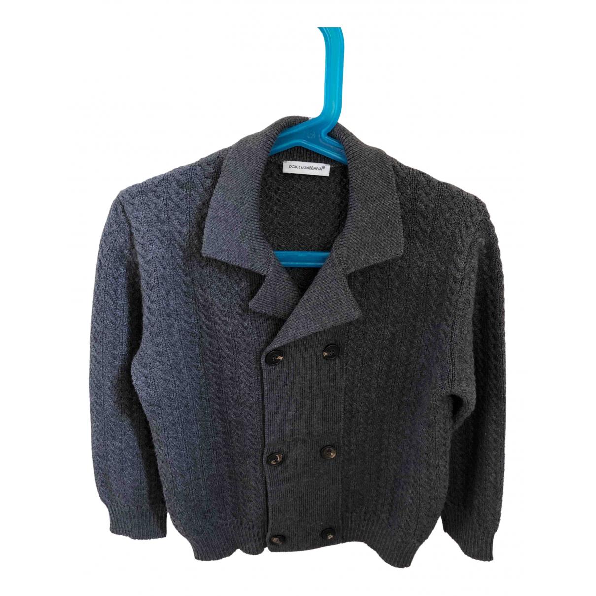 Dolce & Gabbana - Pull   pour enfant en laine - gris