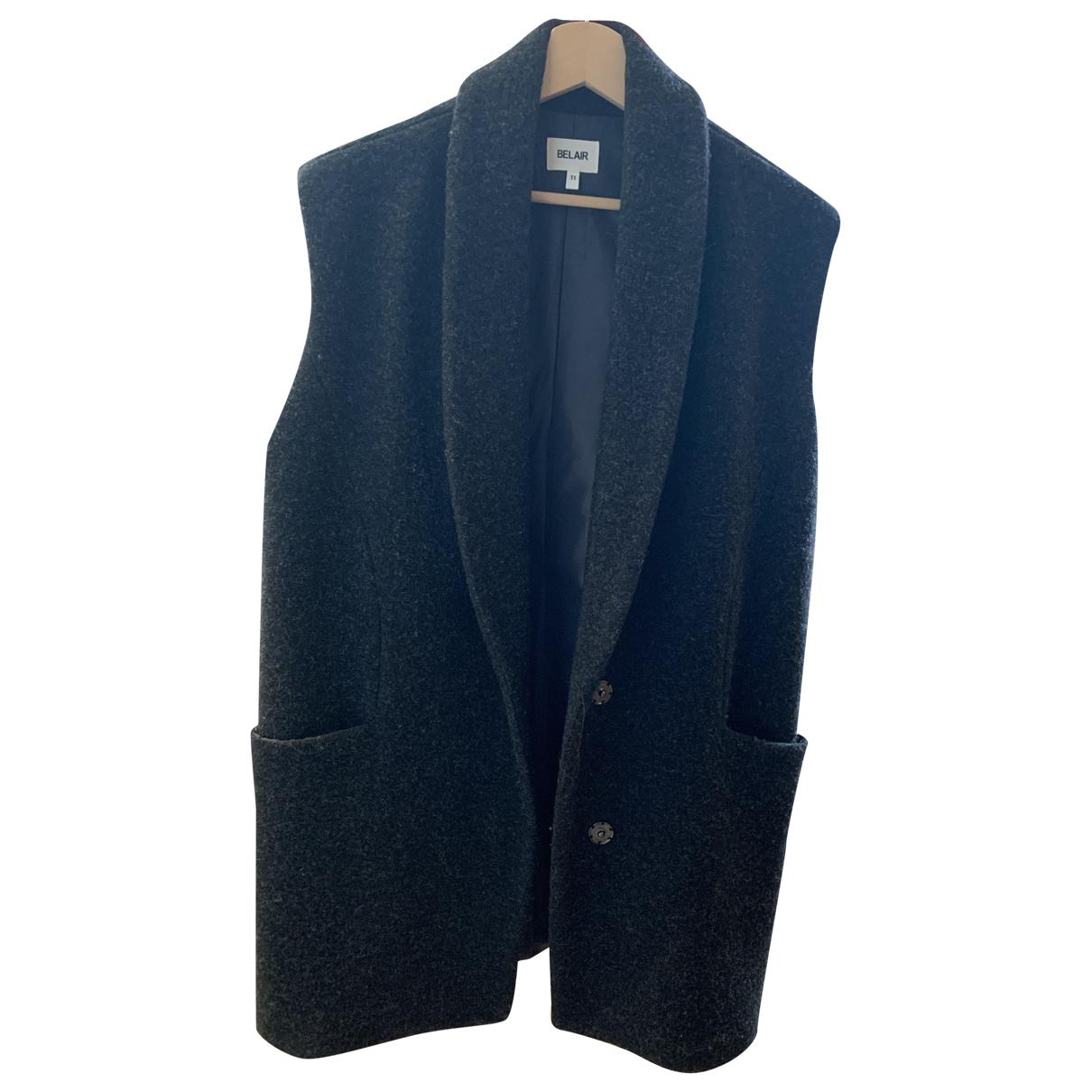 Bel Air - Manteau   pour femme en laine - anthracite