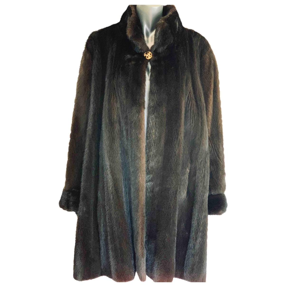 Non Signé / Unsigned \N Brown Mink coat for Women 40 FR
