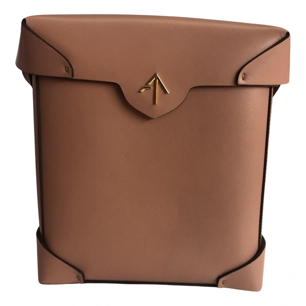 Manu Atelier \N Handtasche in  Rosa Leder
