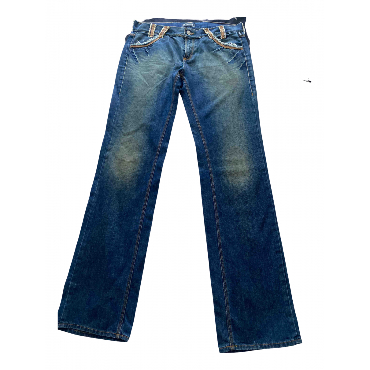 Versace Jeans \N Blue Denim - Jeans Trousers for Women L International