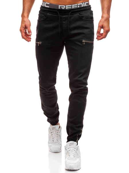 Yoins Men Fashion Frosted Small Feet Zipper Stretch Jeans