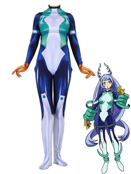 Milanoo Halloween Disfraz Carnaval Boku No Hero Academia Cosplay Nejire Hado Blanco Lycra Spandex Mono Disfraces de cosplay Carnaval