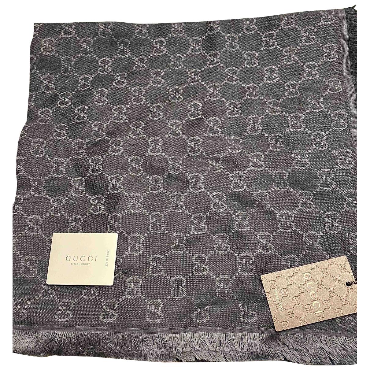 Gucci - Foulard   pour femme en soie - anthracite