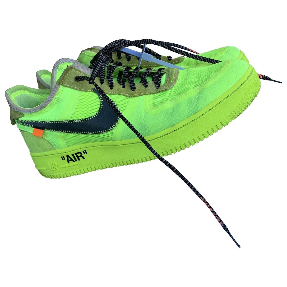 Nike X Off-white - Baskets Air Force 1 pour homme en toile - jaune