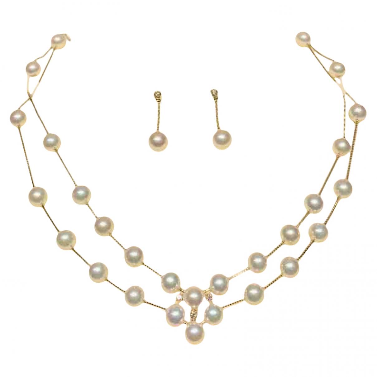 Tasaki - Parure   pour femme en or blanc - blanc