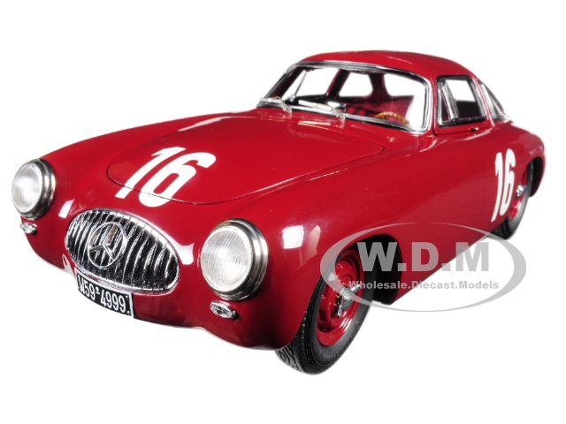 Mercedes 300 SL 16 Red Great Price of Bern 1952 Limited Edition of only 1500 Pieces Worldwide 1/18 Diecast Model Car by CMC