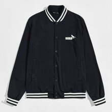 Jacke mit Buchstaben und Tier Muster