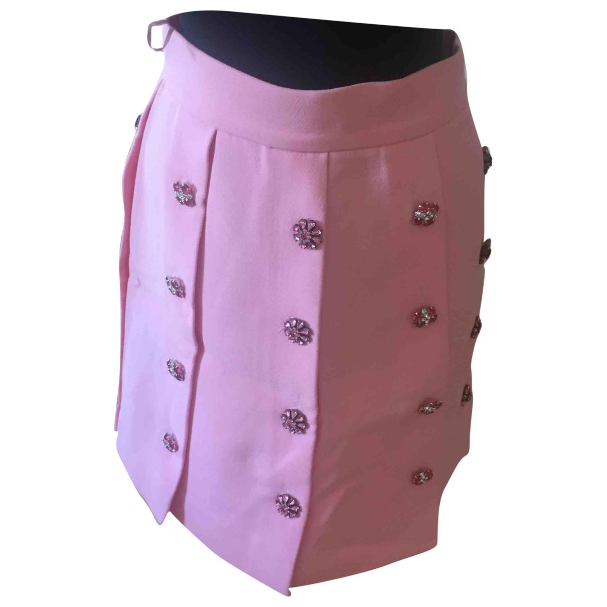 Dolce & Gabbana - Jupe   pour femme en laine - rose