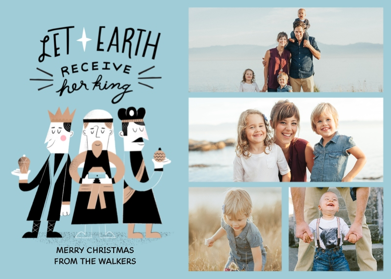 Religious Christmas Cards 5x7 Cards, Premium Cardstock 120lb with Rounded Corners, Card & Stationery -Three Kings