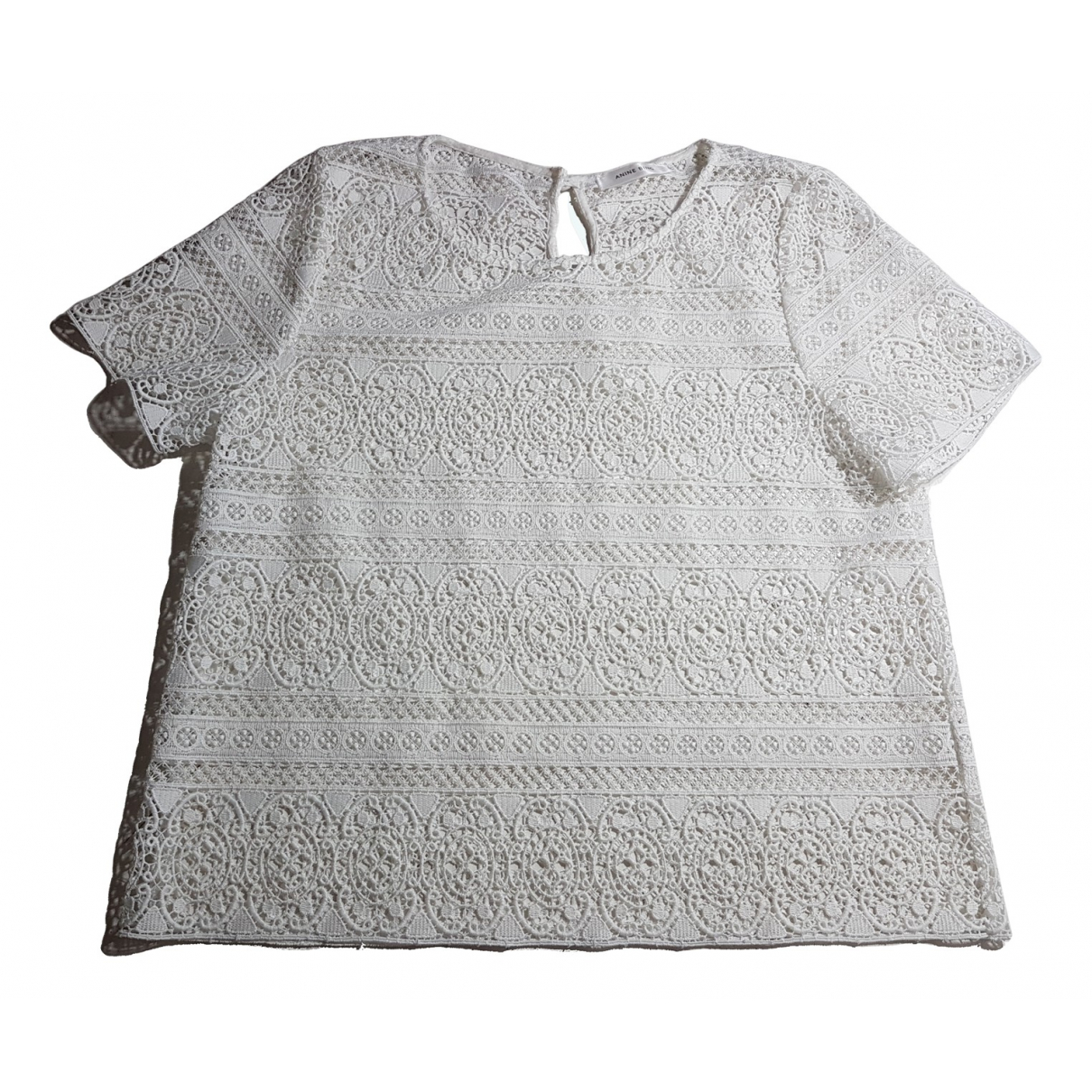 Anine Bing N White Lace  top for Women M International